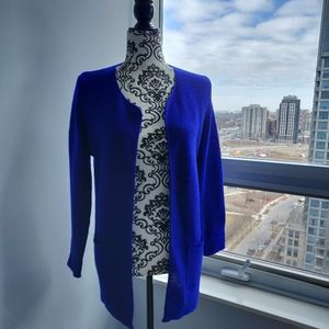 Sweaters - Cobalt Blue/Royal Blue Open Midi Knit Cardigan